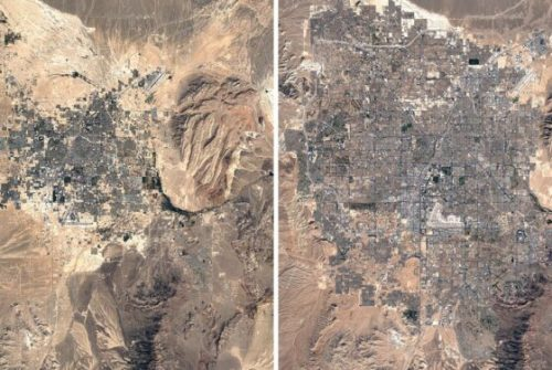 With Google Earth Timelapse we see 40 years of changes...